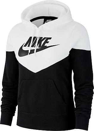 Nike NSW Hoodie Damen in black-white-black, Größe XL