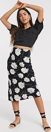 Warehouse bias cut skirt in floral-Multi