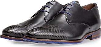 Floris Van Bommel Schwarzer Kalbsleder-Schnürschuh, Business Schuhe, Handgefertigt