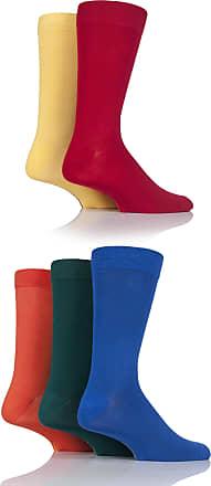 SockShop Mens 5 Pair SockShop Plain Bamboo Socks - Classic Bright 7-11