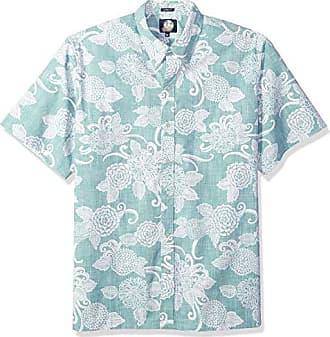 15cfa8946 Reyn Spooner Mens Spooner Kloth Classic Fit Hawaiian Shirt, Opti Mums - Mint,  XXL