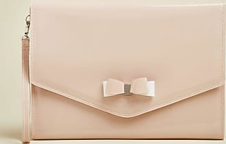 Ted Baker Vinyl Bow Detail Pouch in Dusky Pink HARLIEE, Womens Accessories
