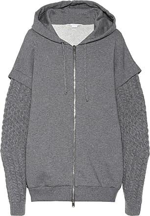 Stella McCartney Wool and alpaca trim cotton hoodie