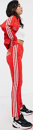adidas Originals x Fiorucci three stripe track pant in red