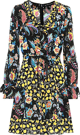 Etro Ruffle-trimmed floral silk dress