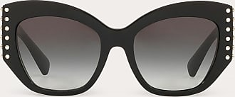 Valentino Valentino Occhiali Occhiale Da Sole In Acetato Con Stud In Cristallo Donna Nero OneSize