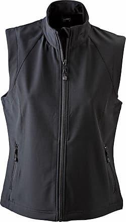James & Nicholson JN1023 Ladies Softshell Gilet Bodywarmer Black Size M