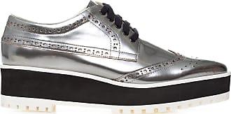 Vinci Shoes Oxford Metalizado - Prata
