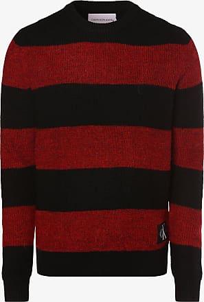 Calvin Klein Jeans Herren Pullover mit Alpaka-Anteil rot
