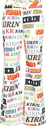 Kirin High-rise flared cotton pants