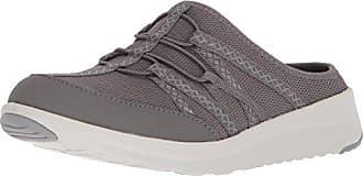 Clarks Womens Darleigh Myra Sneaker, Dark Grey Mesh Textile, 8.5 Medium US
