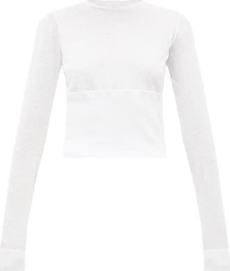 Wardrobe.NYC Wardrobe.nyc - Release 05 Hem-panel Long-sleeved Jersey T-shirt - Womens - White