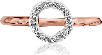 Monica Vinader Riva Mini Circle Stacking Diamond ring - SILVER