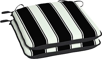 Better Homes & Gardens Club Stripe 18 x 19 in. Outdoor Seat Pad - Set of 2 Black - TJ0K491A-D9W2