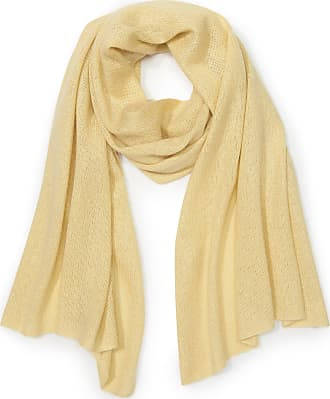 Peter Hahn Knitted scarf in silk and cashmere Peter Hahn yellow
