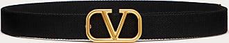 Valentino Garavani Valentino Garavani Uomo Cintura Vlogo Signature In Nastro Uomo Nero Poliestere 100% 100