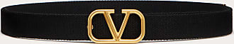 Valentino Garavani Valentino Garavani Uomo Vlogo Signature Tape Belt Man Black Polyester 100% 100