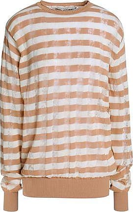 Marques Almeida Marques Almeida Woman Striped Ribbed-knit Cotton-blend  Sweater Beige Size XS 0caa494f9