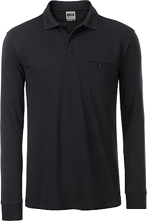 2Store24 Mens Workwear Polo Pocket Longsleeve in Black Size: 3XL