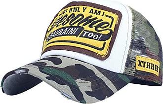 QUINTRA Embroidered Summer Cap Mesh Hats for Men Women Casual Hats Hip Hop Baseball Caps (Green-White)