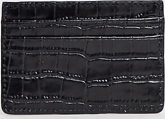 Vagabond Bifrost - Exklusives Kartenetui aus schwarzem Leder in Kroko-Optik