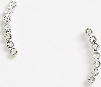 Kingsley Ryan exclusive ear climber earring in sterling silver with crystal
