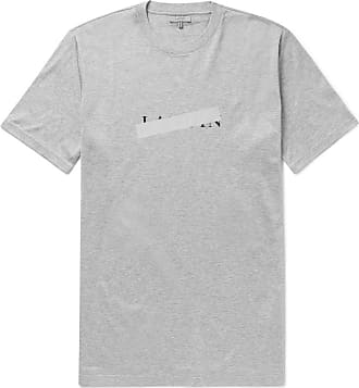 Lanvin Slim-fit Reflective-trimmed Mercerised Cotton-jersey T-shirt - Gray