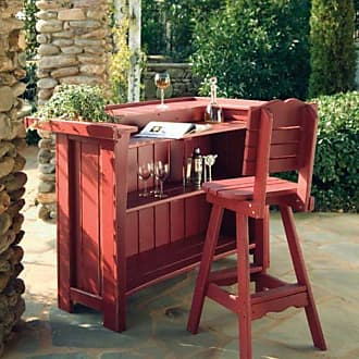 UWharrie Chair Uwharrie Companion Outdoor Bar Stool with Back - 5062-041-P