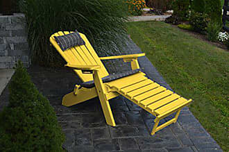 A & L Furniture A & L Furniture 883-LY Lemon Yellow Folding/Reclining Adirondack Chair with Pullout Ottoman