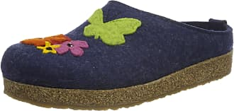 Haflinger Womens Grizzly Garden Open Back Slippers, Blue (Jeans 72), 4.5 UK