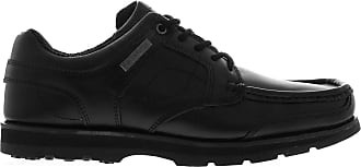 Kangol Mens Harrow Leather Eyelets Lace Up Shoes Moulded Sole Stitched Detail Black UK 8.5 (42.5)