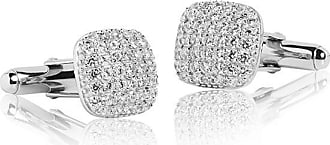 Sif Jakobs Jewellery Cufflinks Lecce with white zirconia