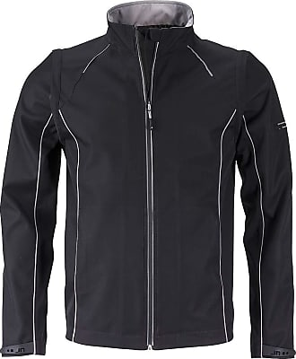 James & Nicholson Mens 2 in 1-Jacket with Detachable Sleeves (L, Black/Silver)