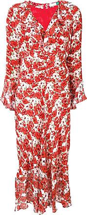 Rixo Vestido com estampa Coleen - Vermelho