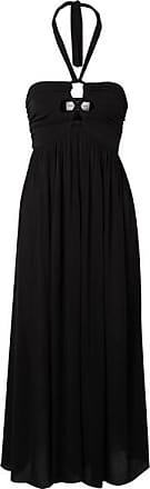 Mara Hoffman Annika Cutout Crepon Halterneck Dress - Black