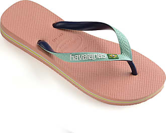 Havaianas Unisex Adults HAV Brasil Mix Silk Flip-Flop, Rosa (Ballet Rose), 8 Child UK