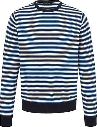 Louis Sayn Rundhals-Pullover aus 100% Pima Cotton Louis Sayn blau