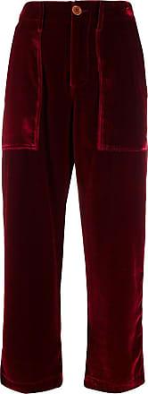 JEJIA Calça cropped com cintura alta - Vermelho