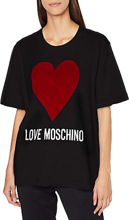 Love Moschino Puffa Coat/_Golden Heart Badge Giubbotto Donna