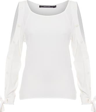 Shoulder Bata Viscose Botões Shoulder - Off White