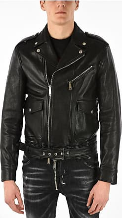 Dsquared2 Leather Biker Jacket Größe 52