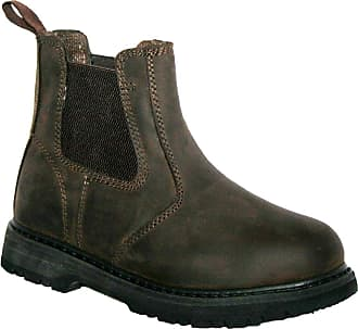 Groundwork Mens GR20 Twin Side Gusset Pull ON Steel Toe Cap Safety Boot Brown 12