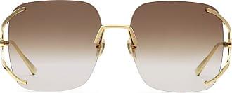 Gucci Óculos de sol quadrado degradê - Dourado