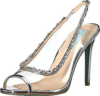 Blue by Betsey Johnson Womens SB-Halie Pump, Solid Silver, 6.5 M US