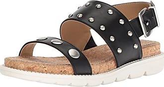 85552fd80267 Adrienne Vittadini Footwear Womens Perry Sandal Black-Small 6 M US