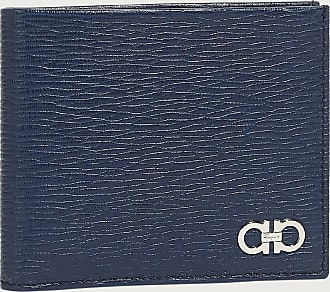 Salvatore Ferragamo Men Gancini wallet Blue