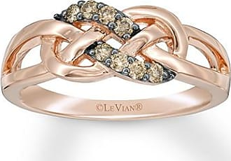 Le Vian Diamond Ring 1/6 ct tw Round-cut 14K Strawberry Gold