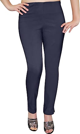 Eyecatch Eye Catch - Ladies Pull On Straight Smooth Super Stretch Elasticated Trousers Womens Pants Navy Size 24