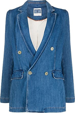 Forte_Forte double-breasted fitted blazer - Blue