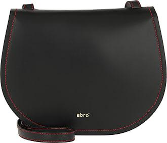 d8069d9b727f1 Abro Calf Carmen Crossbody Bag Black Red Umhängetasche schwarz